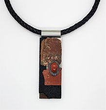 Art Necklace 77 by Shirley Wagner (Mixed-Media Necklace)