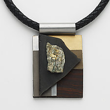 Art Necklace 60 by Shirley Wagner (Mixed-Media Necklace)