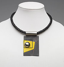 Art Necklace 238 by Shirley Wagner (Mixed-Media Necklace)