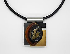 Art Necklace 85 by Shirley Wagner (Mixed-Media Necklace)