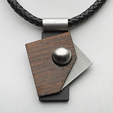 Art Necklace 402 by Shirley Wagner (Mixed-Media Necklace)