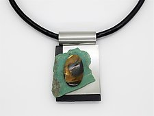 Art Necklace 182 by Shirley Wagner (Mixed-Media Necklace)