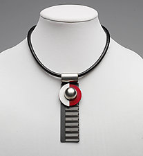 Art Necklace 235 by Shirley Wagner (Mixed-Media Necklace)