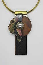 Art Necklace 22 by Shirley Wagner (Mixed-Media Necklace)