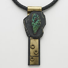 Art Necklace 164 by Shirley Wagner (Mixed-Media Necklace)