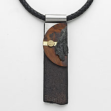 Art Necklace 53 by Shirley Wagner (Mixed-Media Necklace)