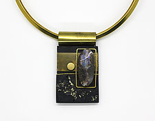 Art Necklace 255 by Shirley Wagner (Mixed-Media Necklace)