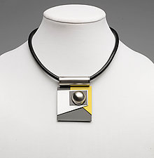 Art Necklace 236 by Shirley Wagner (Mixed-Media Necklace)