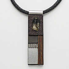 Art Necklace 89 by Shirley Wagner (Mixed-Media Necklace)