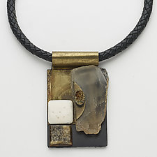 Art Necklace 266 by Shirley Wagner (Mixed-Media Necklace)