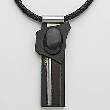 Art Necklace 97 by Shirley Wagner (Mixed-Media Necklace)