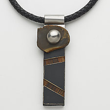 Art Necklace 99 by Shirley Wagner (Mixed-Media Necklace)