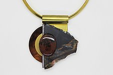 Art Necklace 23 by Shirley Wagner (Mixed-Media Necklace)