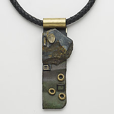 Art Necklace 313 by Shirley Wagner (Mixed-Media Necklace)