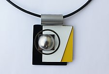Art Necklace 451 by Shirley Wagner (Mixed-Media Necklace)