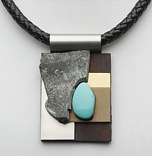 Art Necklace 62 by Shirley Wagner (Mixed-Media Necklace)