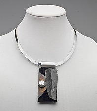 Art Necklace 265 by Shirley Wagner (Mixed-Media Necklace)