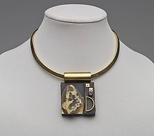 Art Necklace 186 by Shirley Wagner (Mixed-Media Necklace)