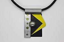 Art Necklace 231 by Shirley Wagner (Mixed-Media Necklace)