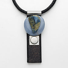 Art Necklace 18 by Shirley Wagner (Mixed-Media Necklace)