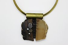 Art Necklace 189 by Shirley Wagner (Mixed-Media Necklace)
