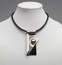 Art Necklace 352 by Shirley Wagner (Mixed-Media Necklace)