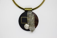 Art Necklace 398 by Shirley Wagner (Mixed-Media Necklace)