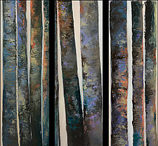 Pando Bark Triptych by Heather Fields (Oil Painting)