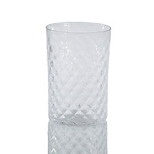 Mandala Drinking Glass by 2BGlass (Art Glass Drinkware)