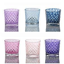 Mixed Mindala Drinking Glass Sets by 2BGlass (Art Glass Drinkware)