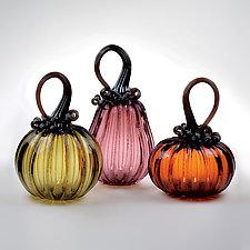 Mixed Pumpkin Votive Sets by 2BGlass (Art Glass Candleholder)