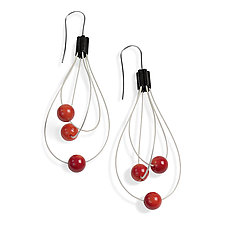 Whisk Away Earrings by Laurette O'Neil (Silver & Stone Earrings)
