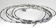 Long Sheen and Shadow Necklace by Laurette O'Neil (Silver Necklace)