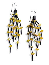 Butterscotch Amber Earrings by Laurette O'Neil (Silver & Stone Earrings)