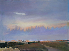 Fall Clouds by Tom Maakestad (Oil Pastel Painting)