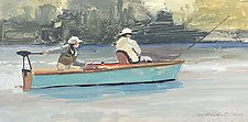 Two Fly Fishermen by Tom Maakestad (Oil Painting)