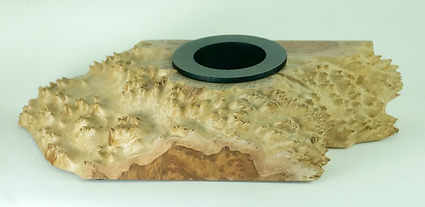 Ikebana Turned From Gold Mallee Burl Cap