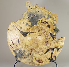 Buckeye Burl Turned Sculptural Form by Eric Reeves (Wood Sculpture)