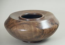 Claro Walnut Enclosed Form by Eric Reeves (Wood Vessel)