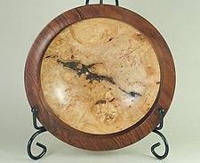 Bowl of Maple Burl and Cocobolo Rosewood by Eric Reeves (Wood Bowl)