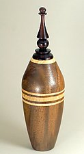 Lidded Vessel Turned from Claro Walnut with African Blackwood Finial by Eric Reeves (Wood Vessel)