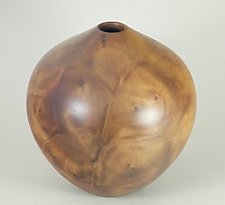Camphor Burl Hollow Form by Eric Reeves (Wood Sculpture)