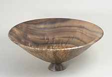 Highly Figured Claro Walnut Bowl by Eric Reeves (Wood Sculpture)