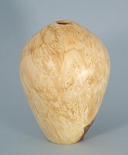 Hollow Form Turned from Box Elder Burl by Eric Reeves (Wood Vessel)
