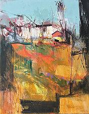 Hilltop Barn by Larry Davis (Oil Painting)