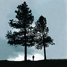 Hiker by Gloria Feinstein (Color Photograph on Aluminum)