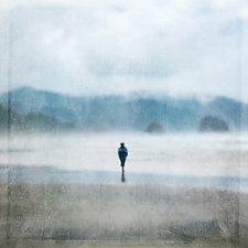 Lone Figure by Gloria Feinstein (Color Photograph on Aluminum)