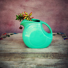 Green Vase by Gloria Feinstein (Color Photograph on Aluminum)