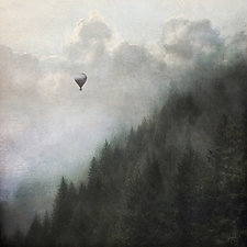 Hot Air Balloon by Gloria Feinstein (Color Photograph on Aluminum)