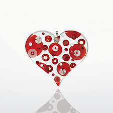 This Thing Called Love by Cherie Virden (Art Glass Ornament)